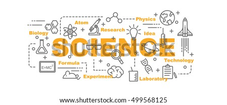 science vector banner design
