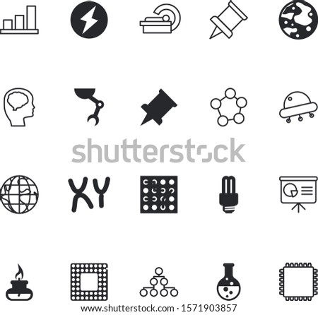 science vector icon set such as