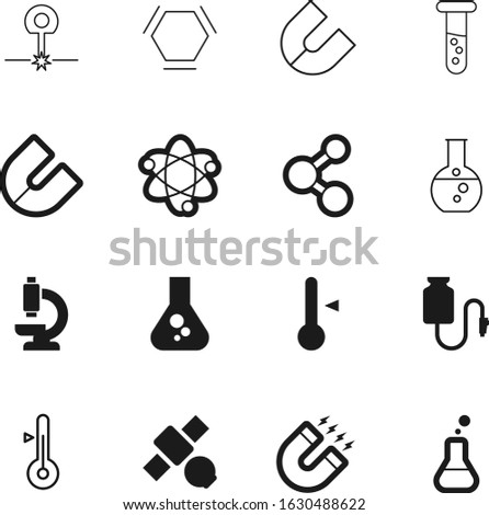 science vector icon set such as: shadow, button, image, microscope, drawn, internet, vial, beam, freeze, web, glassware, fahrenheit, tool, macro, transparent, natural, doctor, degree, discovery, ray