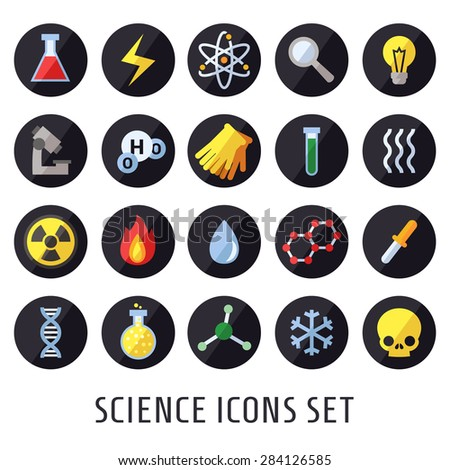 science vector icons chemistry