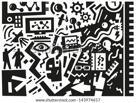 Science vector illustration in graphic style
