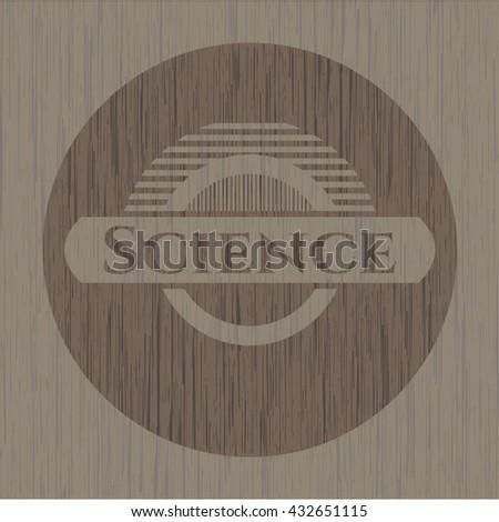 Science vintage wooden emblem
