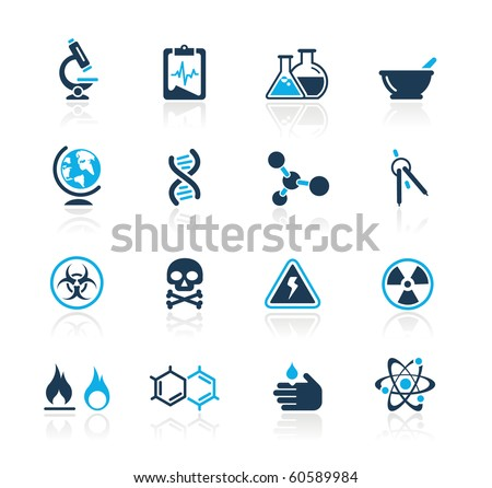 Science Web Icons // Azure Series