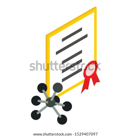 Scientific discovery icon. Isometric illustration of scientific discovery vector icon for web