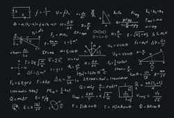 scientific formulas chalkboard illustrations vector