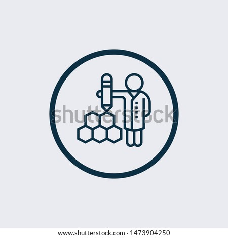 Scientific icon isolated on white background. Scientific icon simple sign. Scientific icon trendy and modern symbol for graphic and web design. Scientific icon flat vector illustration for logo, web,