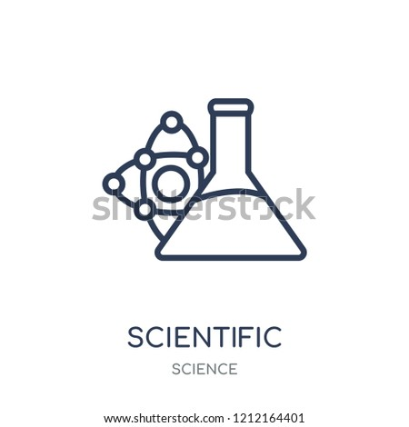 Scientific icon. Scientific linear symbol design from Science collection. Simple outline element vector illustration on white background.