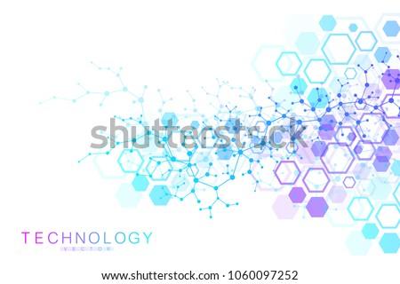 scientific molecule background