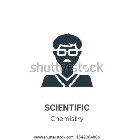 Scientific vector icon on white background. Flat vector scientific icon symbol sign from modern chemistry collection for mobile concept and web apps design.