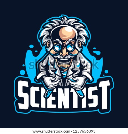 Scientist mascot logo template