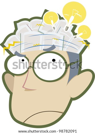 stock vector : Scientist thinks