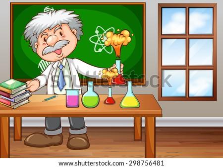 scientist working in the lab