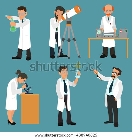 scientists characters set with