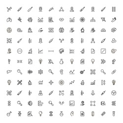 Scientists line icon set. Collection of high quality black outline logo for web site design and mobile apps. Vector illustration on a white background