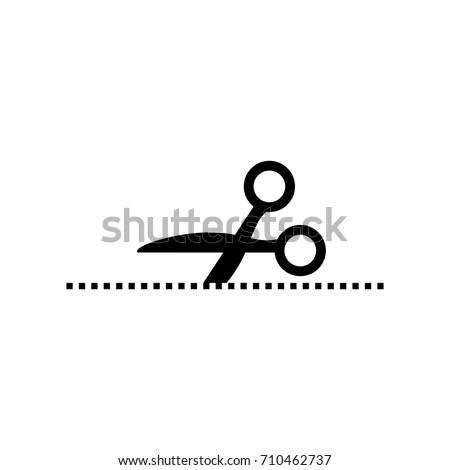 Scissor cut icon. Coupon.
