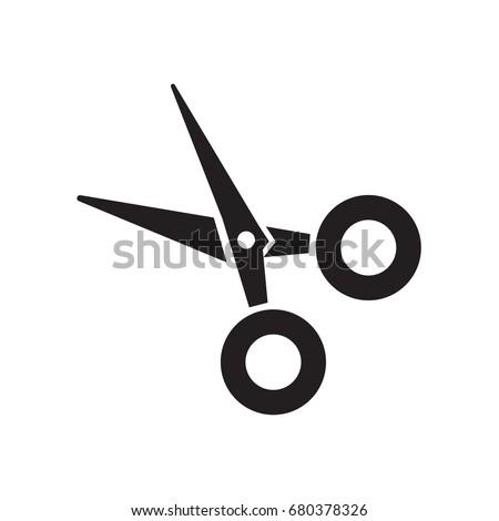 Scissor icon. Vector scissors symbol on white background