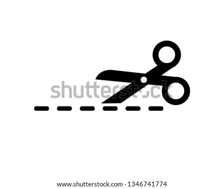 scissor vector icon template