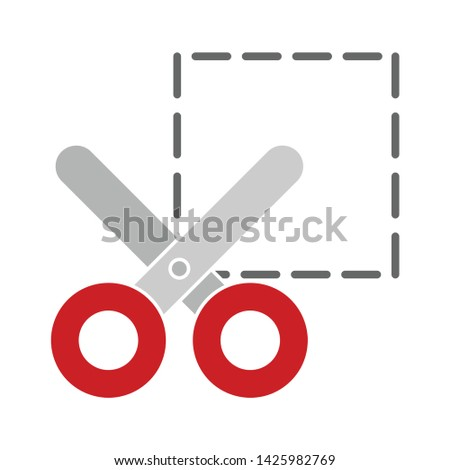 scissors cut icon. flat illustration of scissors cut vector icon for web