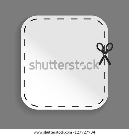 scissors cutting sticker