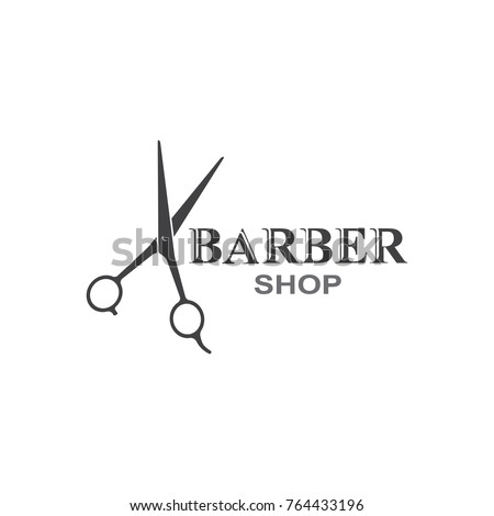 Scissors icon.barber shop.modern design.vector illustration.flat logo