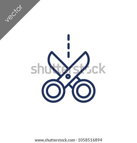 scissors icon - illustration