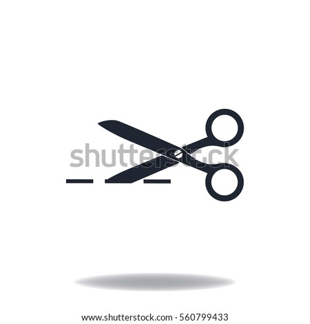 Scissors icon, web design element