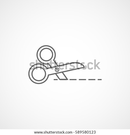 Scissors Line Icon On White Background