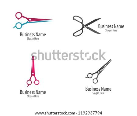 Scissors logo icon
