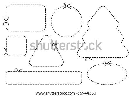 scissors coupon vectors download free vector art stock graphics