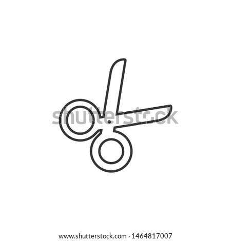 Scissors vector icon. Scissors vector icon illustration
