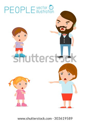 scold children  father and