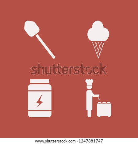 scoop icon. scoop vector icons set shovel, ice cream, chef ladle and whey