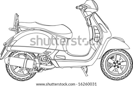scooter gt outline