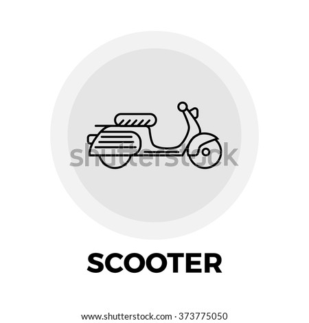 scooter icon vector scooter