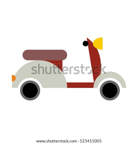 scooter isolated transport