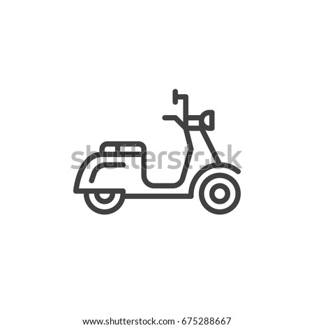 scooter line icon  outline