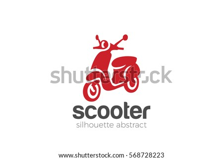scooter logo design silhouette