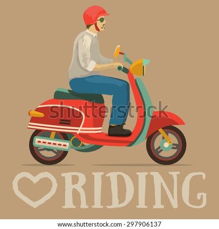 scooter motorbike retro vintage