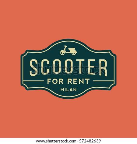 scooter rental emblem