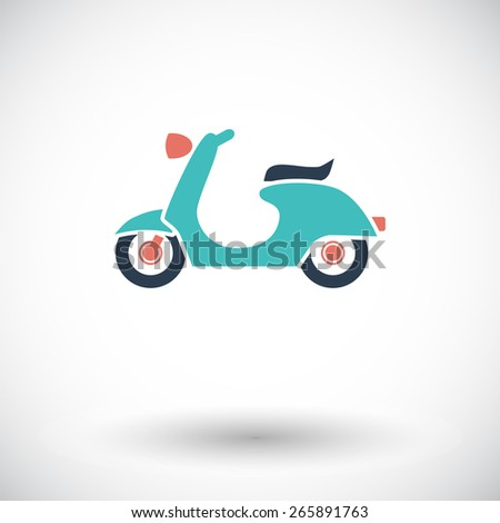 scooter single flat icon on