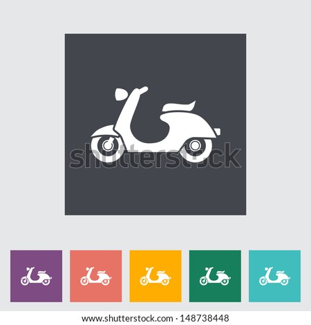 scooter single flat icon
