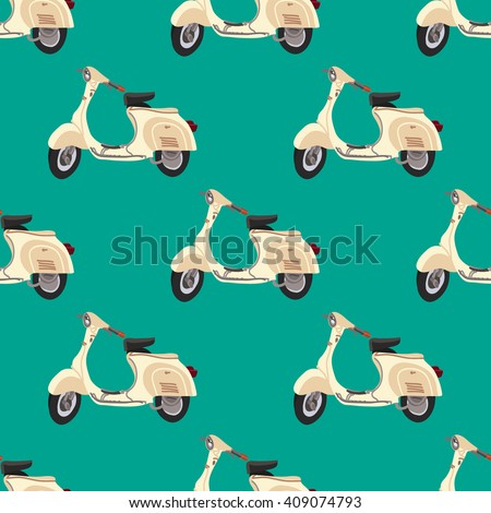 scooter vector pattern with