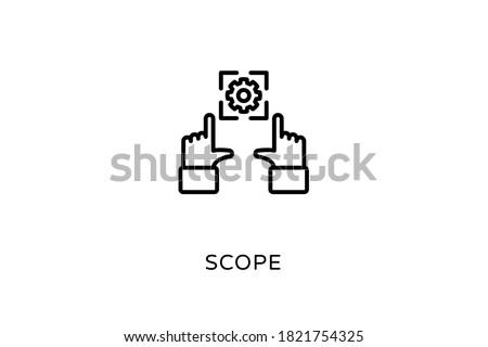 Scope icon in vector. Logotype Сток-фото ©
