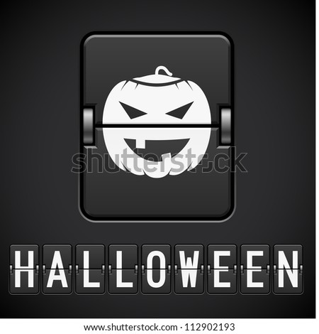 Scoreboard Halloween sign. Illustration of the designer