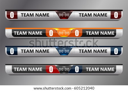 scoreboard sport template for