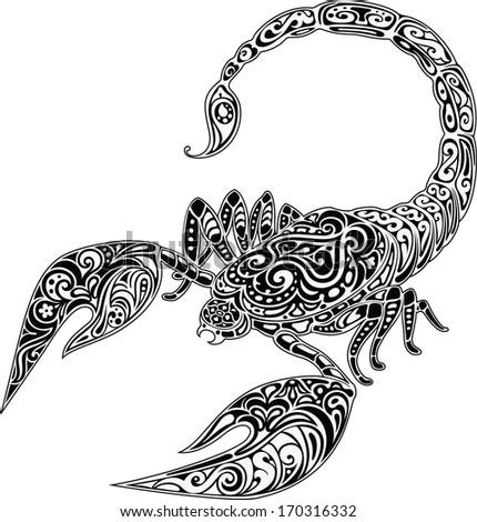 scorpio  black   white