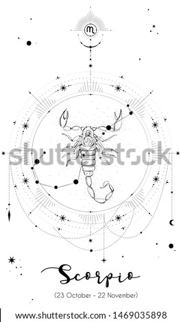 Scorpio horoscope sign with white background