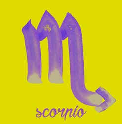 scorpio icon of zodiac, Vector icon. astrological signs, colorful image of horoscope. Watercolour style
