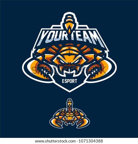 scorpio/scorpion esport gaming mascot logo template