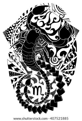 scorpio tattoo design
